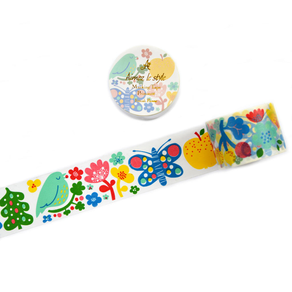 WASHI TAPE- FINNISH FLOWER