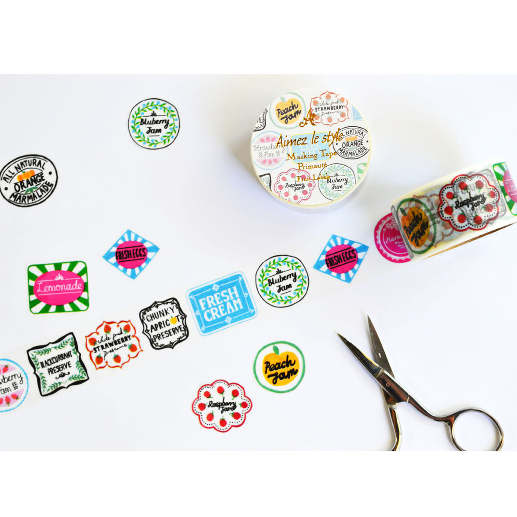 WASHI TAPE- FRUIT LABELS