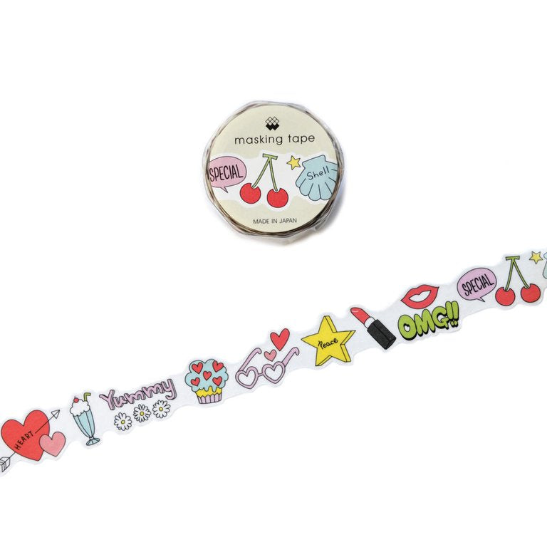 WASHI TAPE- GIRL'S NIGHT IN (DIE CUT)