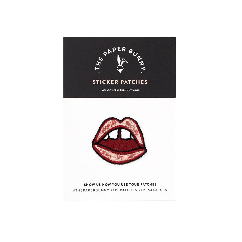 LIPS DON'T LIE STICKER PATCH