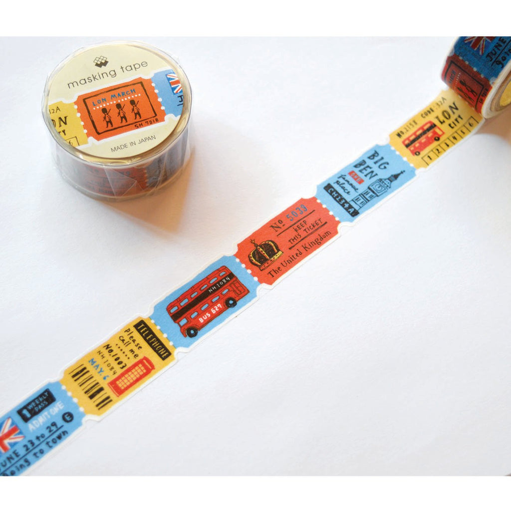 WASHI TAPE-LONDON TICKETS (DIE CUT)