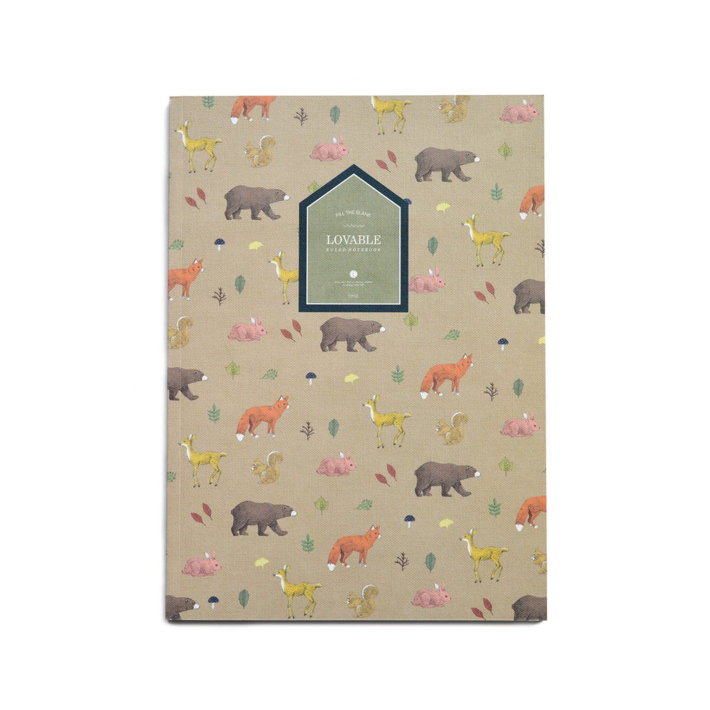 LOVABLE RULE NOTEBOOK- FOREST