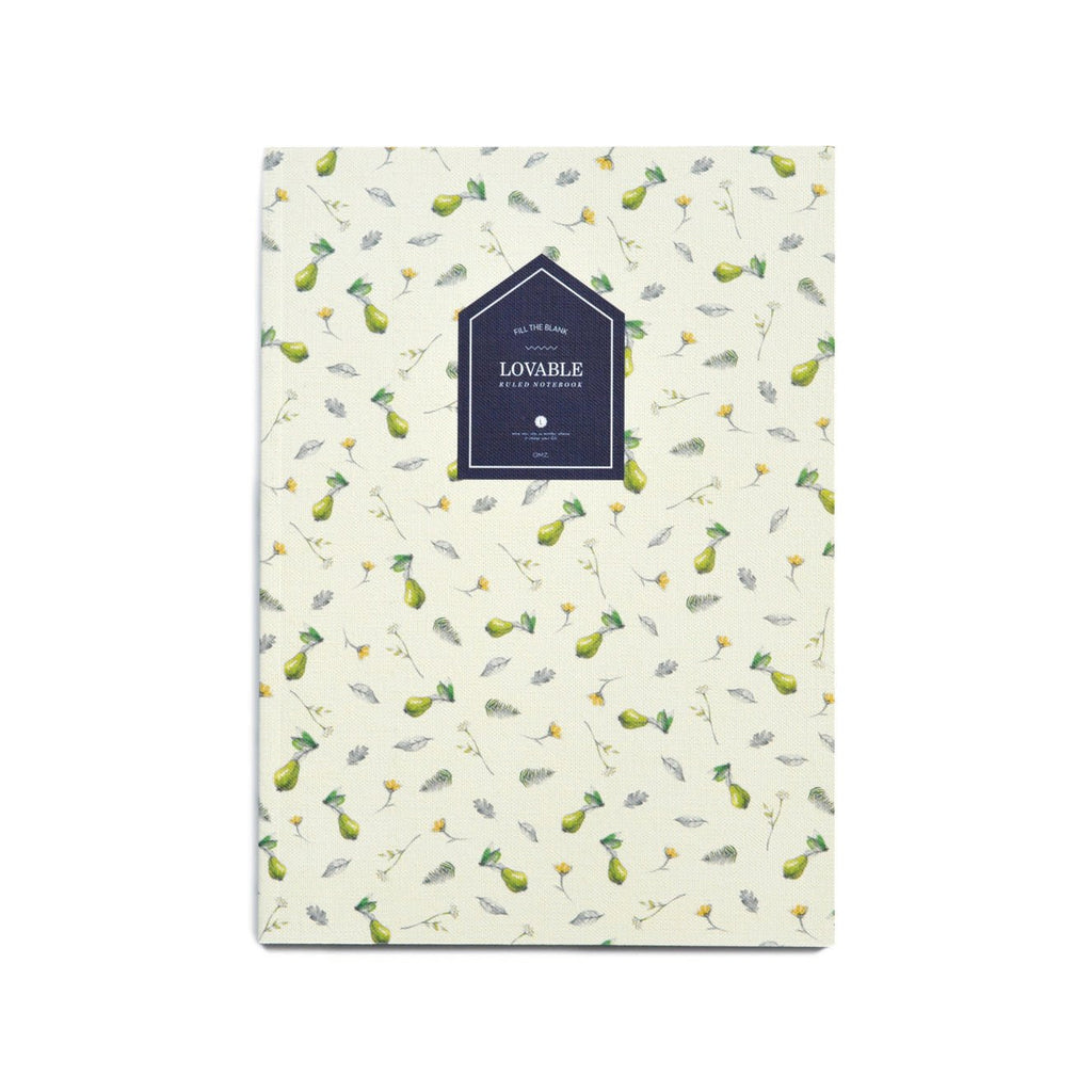 LOVABLE RULED NOTEBOOK- PEAR