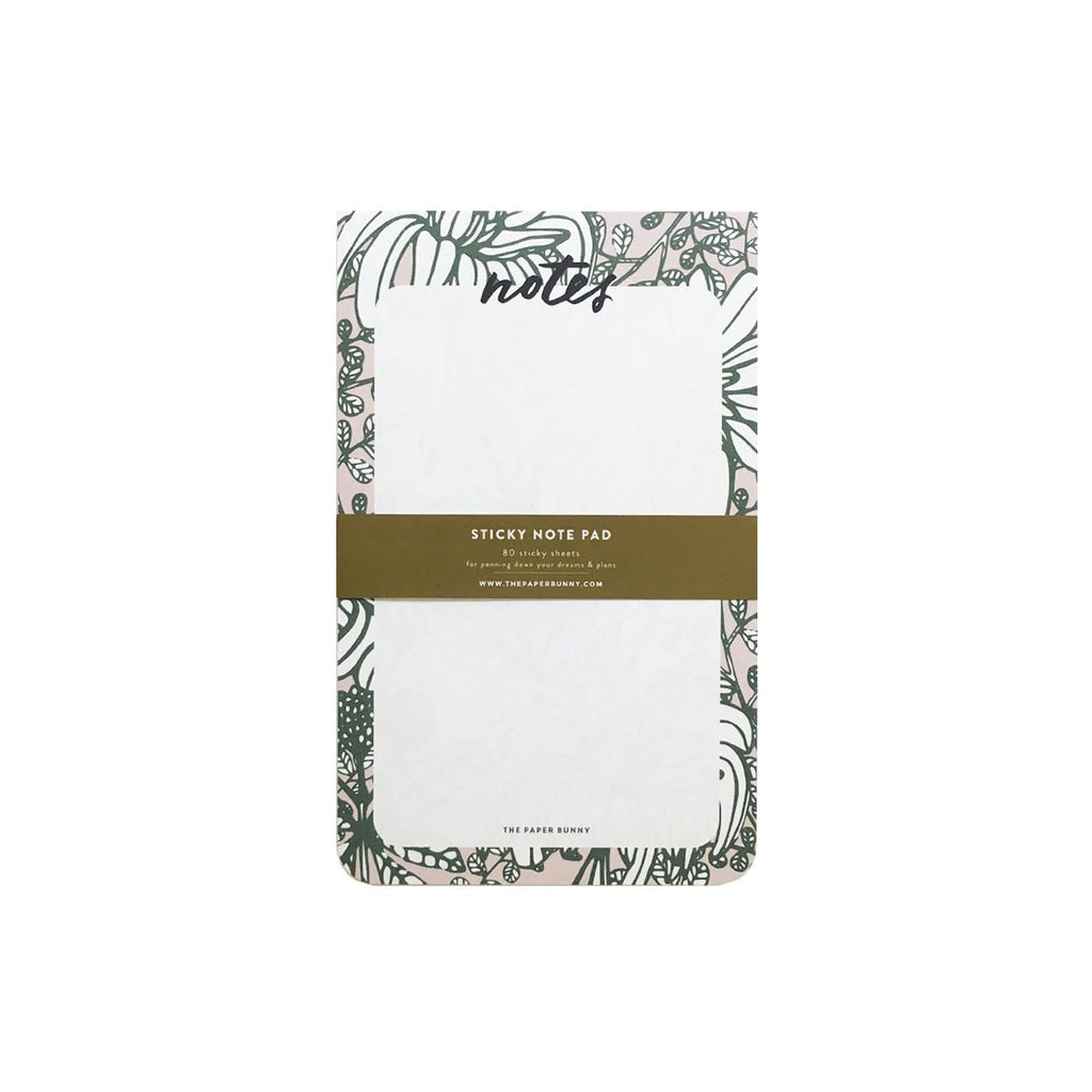 LUSH BOTANICALS STICKY NOTEPAD