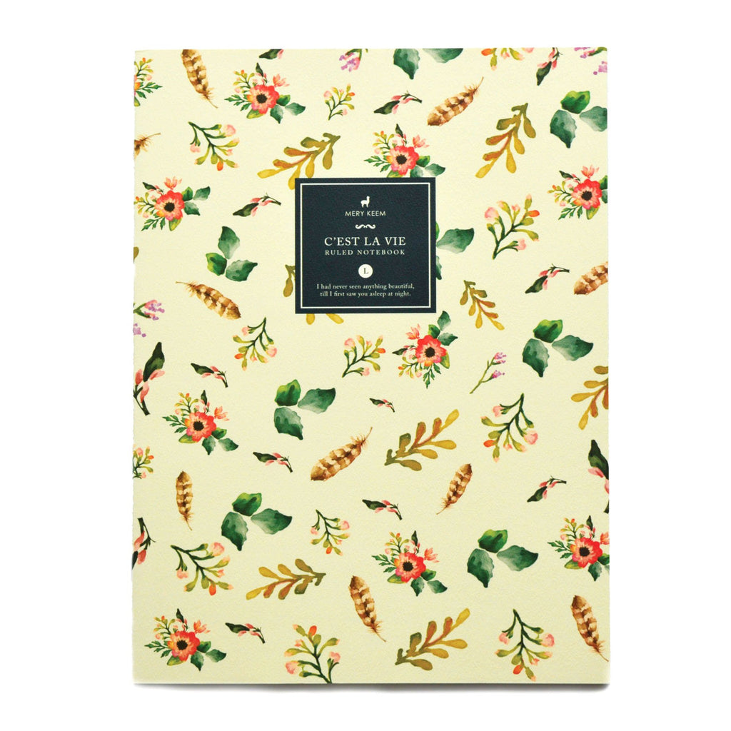 WATERCOLOUR SPRING FLOWERS NOTEBOOK