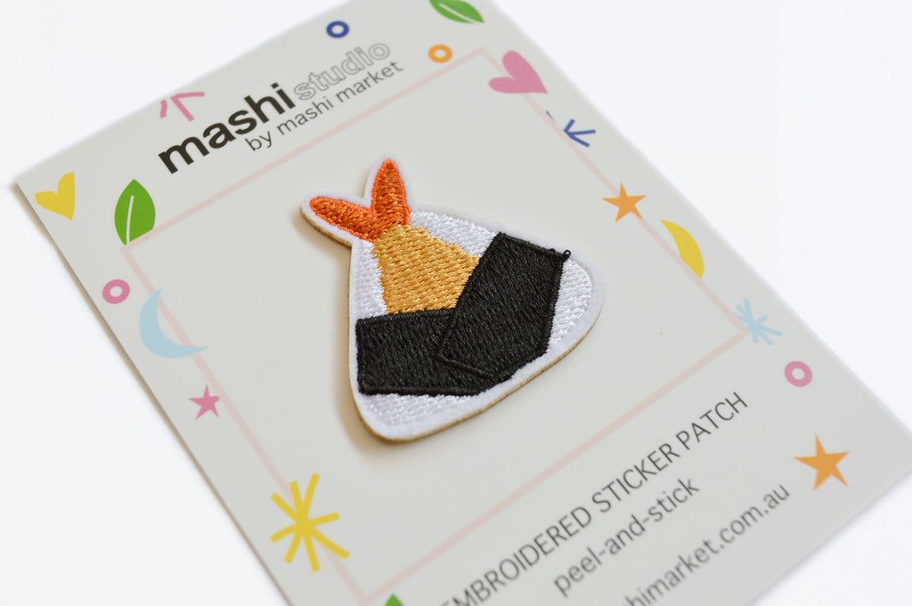 ONIGIRI EMBROIDERED STICKER PATCH