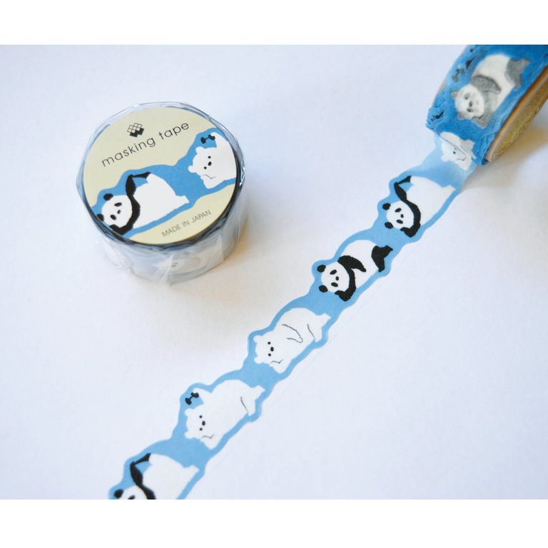 WASHI TAPE- PANDA BEAR (DIE CUT)