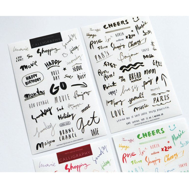 PETIT DECO STICKERS- CALLIGRAPHY