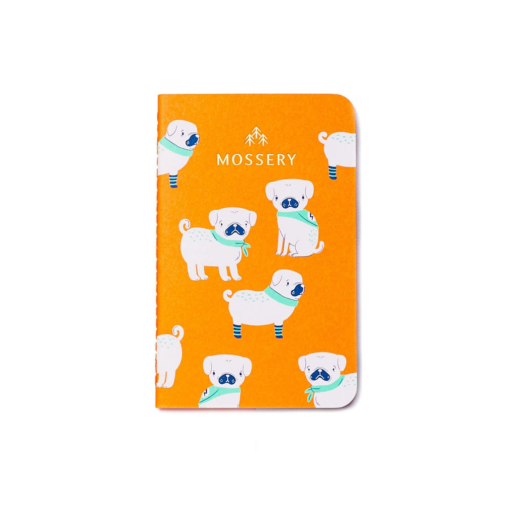 PUGS LIGHTNING ORANGE POCKET NOTEBOOK