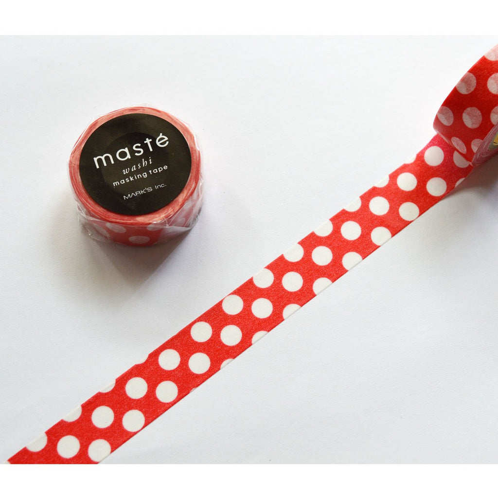 WASHI TAPE- RED/WHITE POLKA DOTS