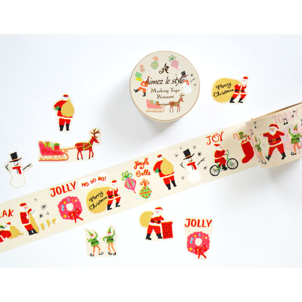 WASHI TAPE- SANTA PARADE (CHRISTMAS EDITION)