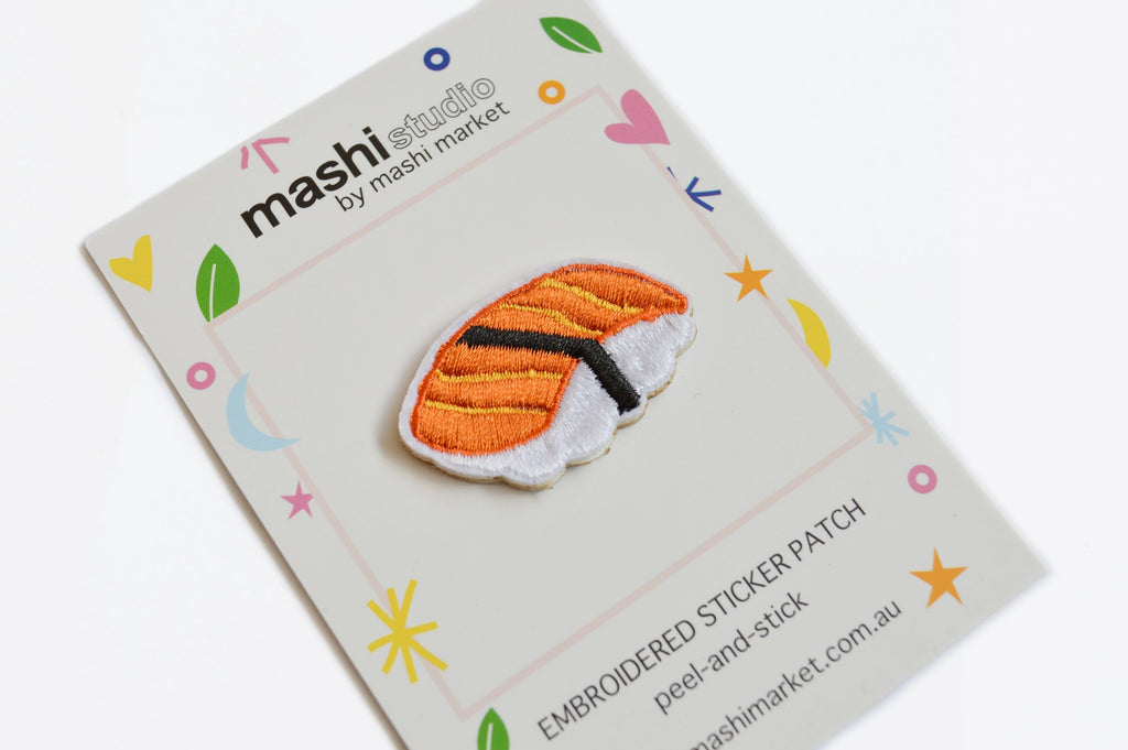 SUSHI EMBROIDERED STICKER PATCH