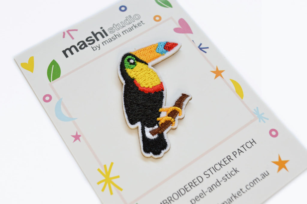 TOUCAN EMBROIDERED STICKER PATCH
