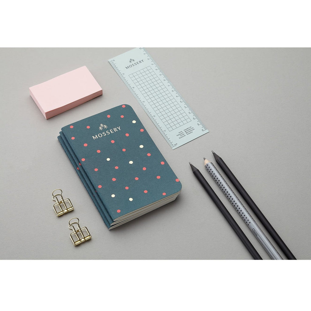 TEAL DOTS GOLD FOIL POCKET NOTEBOOK