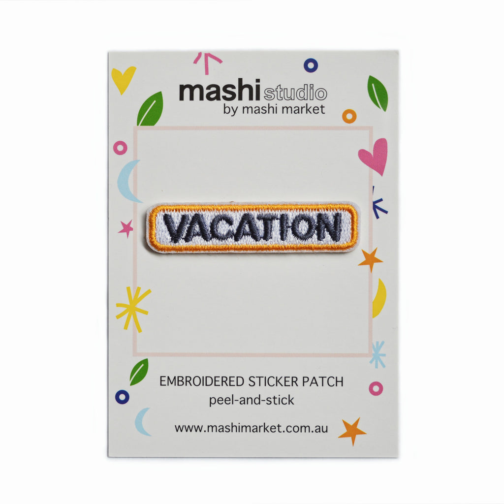 VACATION EMBROIDERED STICKER PATCH