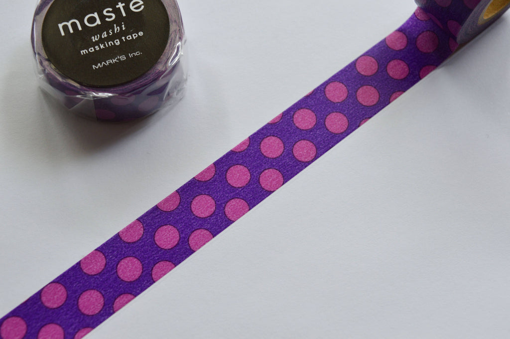 WASHI TAPE- PURPLE DOTS