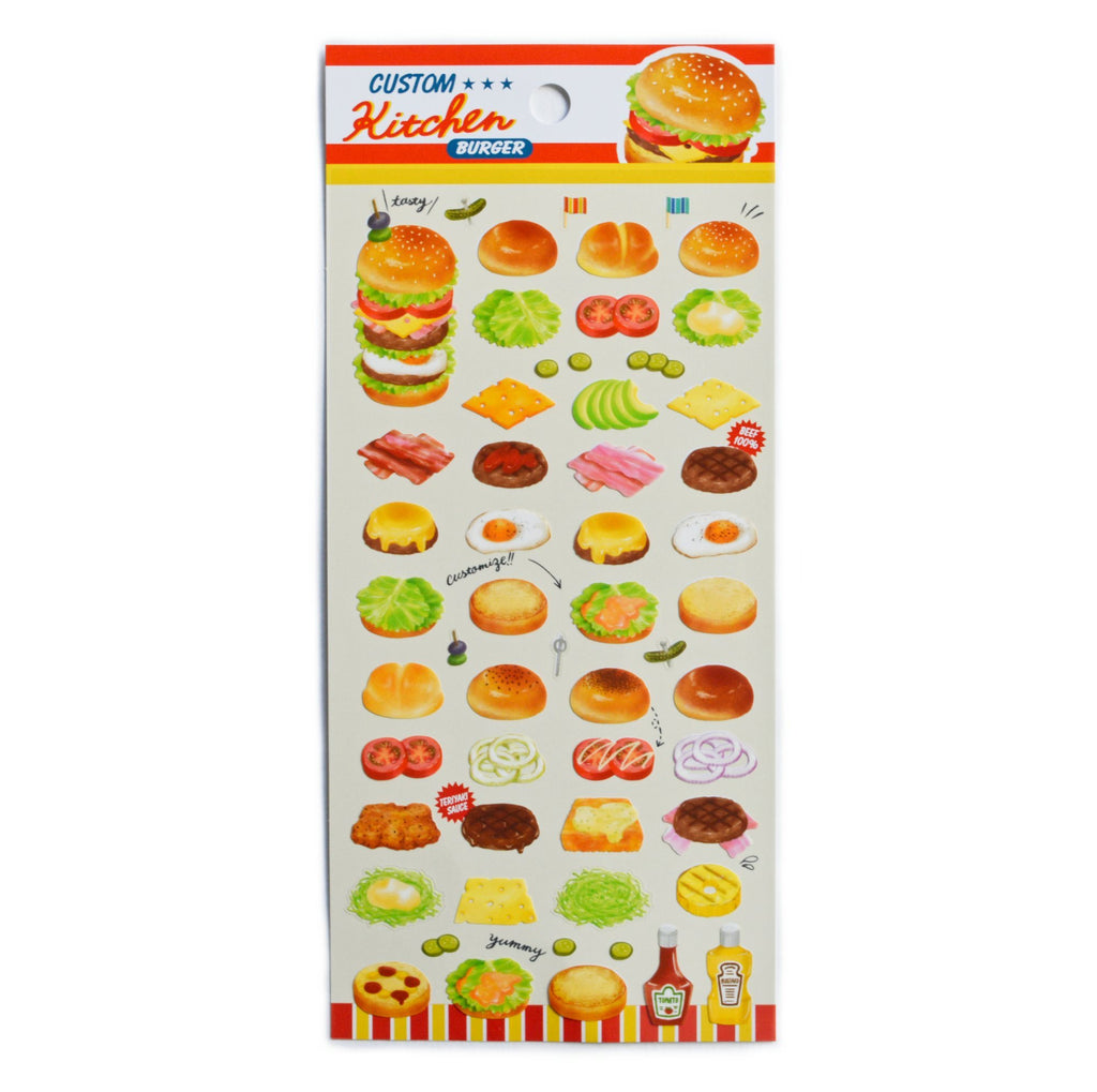 CUSTOM KITCHEN STICKERS- HAMBURGER