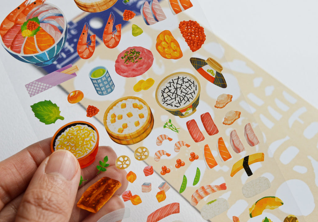 CUSTOM KITCHEN STICKERS- DONBURI/SUSHI