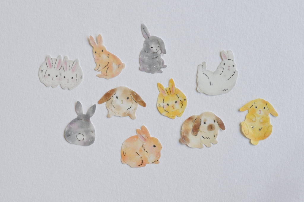 HOLIDAY DESIGN STICKERS- BUNNIES