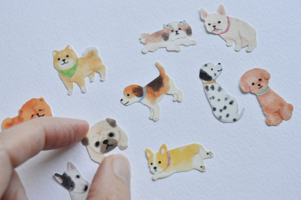 HOLIDAY DESIGN STICKERS- DOGS