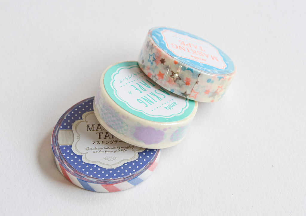 LUCKY DIP- BAG OF 3 WASHI TAPES