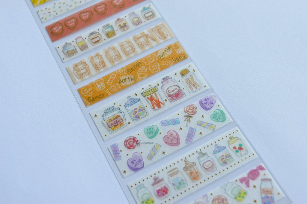 WASHI SEAL TAPE SHEETS- CANDY