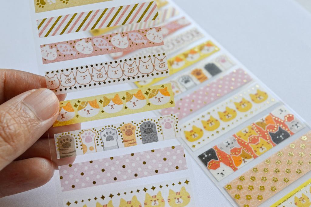 WASHI SEAL TAPE SHEETS- CATS