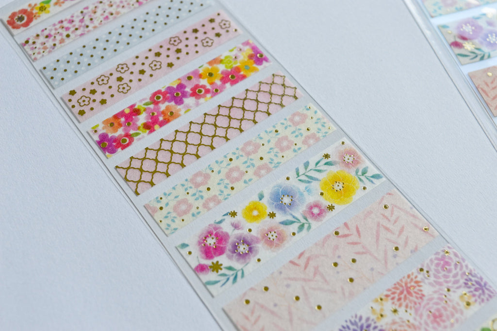 WASHI SEAL TAPE SHEETS- FLOWERS