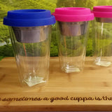 Glass Double Walled Infuser Mug