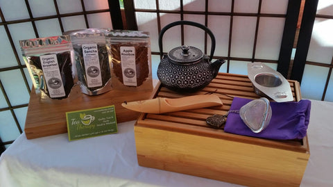 Bamboo Tea Chest Gift Set with Cast Iron Teapot
