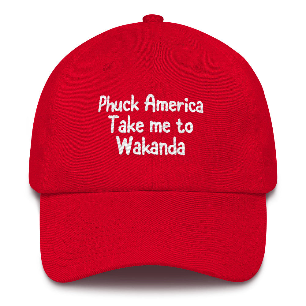 Take me to Wakanda dad hat