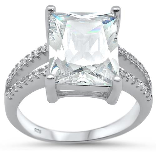 Radiant 7.80 ct White Topaz Ring - Best Jewelry Deals