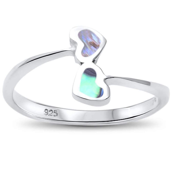 Abalone Wrap Around Hearts Ring - Best Jewelry Deals