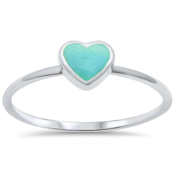Cute Turquoise Heart Ring - Best Jewelry Deals
