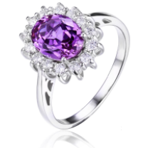 Princess Diana Style 3.20 ct Amethyst Ring - Best Jewelry Deals