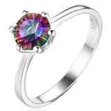 Gorgeous Round 1.00 ct Mystic Topaz Ring - Best Jewelry Deals