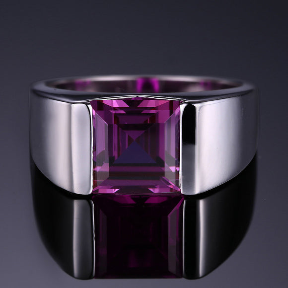 Men's Square 3.30 ct Alexandrite Ring - Best Jewelry Deals