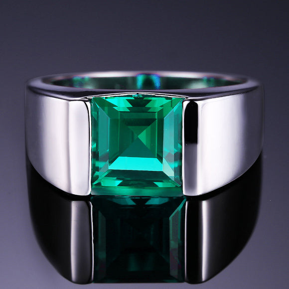 Men's Square 2.34 ct Emerald Ring - Best Jewelry Deals