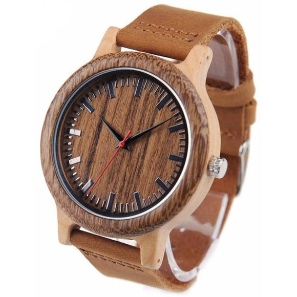 BOBO BIRD Men's High Quality Brown Stain Wooden Watch - Best Jewelry Deals