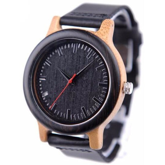 BOBO BIRD Men's High Quality Ebony Stain Wooden Watch - Best Jewelry Deals