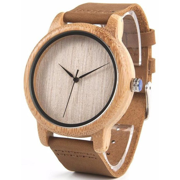 BOBO BIRD Men's High Quality Simplistic Style Natural Bamboo Watch - Best Jewelry Deals