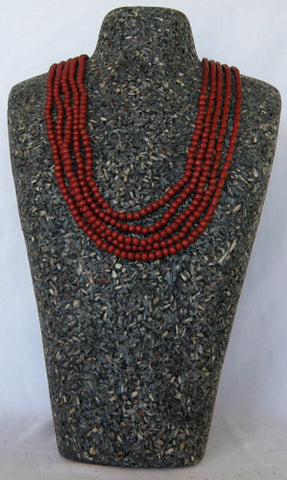 ZATINI DYED WOOD MULTI-STRAND BEAD NECKLACE