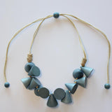 DYED WOOD NECKLACES