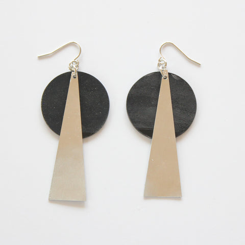 EARRINGS MADE FROM VINYL RECORDS AND METAL