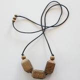 NATURAL WOOD BARK NECKLACE