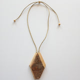 NATURAL WOOD BARK PENDANT