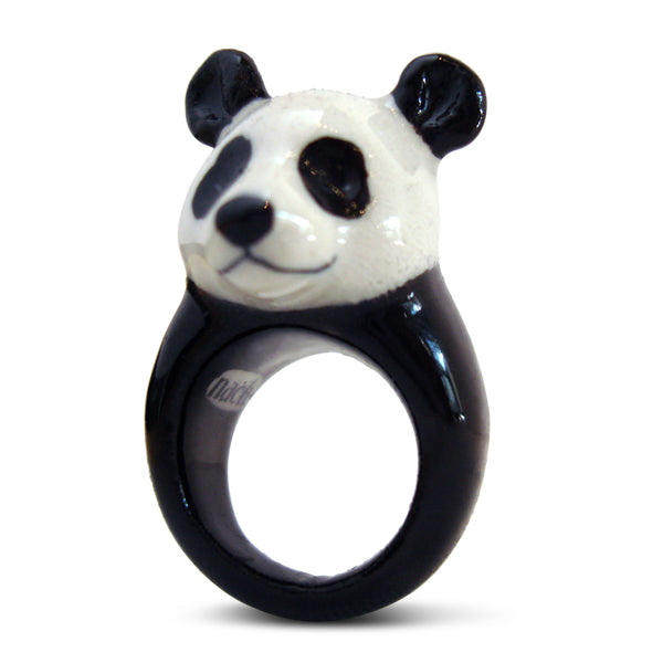 Nach Panda Ring. Unique Handmade Porcelain Collection