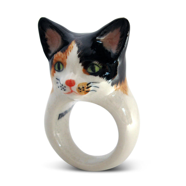 Nach Cat Ring. Unique Handmade Porcelain Collection
