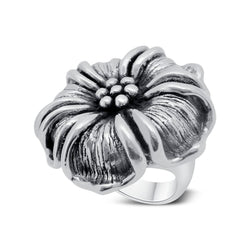 Large Silver Flower