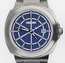 The Metropolitan MT-01 Blue Dial. Ayers Watches. Full lume, Automatic watch